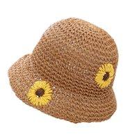 Ampla borda chapéus criança bebê crianças verão outdoor protetor solar padrão studys sun cap chapéu uv proteger as crianças de viagem Caps