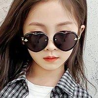 Gafas de sol de dibujos animados de niñas Lindos niños abeja aduminios gafas 2021 New Children Fashion Casual Ultraviolet Prueba de las gafas al aire libre B079