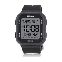 Xonix Men Женщины Двойные Спортивные Часы Многофункциональные Цифровые 5 Группы тревоги Водонепроницаемый 100M Плавание Наручные часы