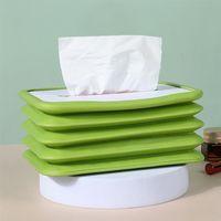 Tissue Boxes & Napkins Foldable Paper Holder Portable Box Napkin Home Tabletop Car Armrest Collapsible Storage Case