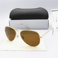 Sonnenbrille Mode Top Qualität Sonnenbrille für Mannfrau Polarisierte UV400-Linsen Ledertaschen-Tuch-Box-Zubehör, alles