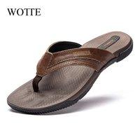 Wott мужские флиппышки модные тапочки пляж повседневная сандалии летняя обувь для мужчин за пределами тапочек большой размер 40 ~ 46 zapatos hombre