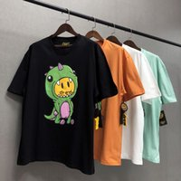 T-shirt Mens Drew House Justin Bieber Cartoon Dinosaur Dinosaur High Street manica corta T-Shirt Top Casual Moda Abbigliamento maschile