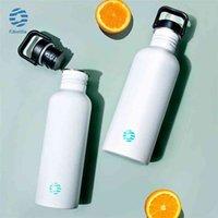 Feijian YG Флуоресцентная бутылка для воды Однословный из нержавеющей стали для питья для питья велосипеда Sports Sport Cold Bree 1000 мл 210908