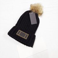 2021 New Fashion Removable Hair Ball Beanie Brand Men Women Winter Autumn Warm High Quality Breathable Fitted Bucket Hat Elastic With Logo Knitted Caps F009054