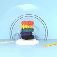 실리콘 손목 밴드 팝 플러스 버블 감각 장난감 선호 12 스타일 타이 염료 카모 스트레스 reliever 장난감 팔찌 LLA622