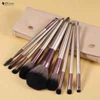 Makeup Brushes DUcare 9Pcs Set High Quality Eyeshadow Eyeliner Eyelash Eyebrow Brush - Face & Eye Beauty Make Up Tools Maquiagem