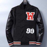 Brief Herrenjacken arrow Regulierungsmantel benutzerdefinierte Baseball Varsity Jacke Lederhülse Letterman Baseballs Uniform Hochwertige Anpassung