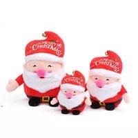 Alta qualità con le campane peluche del partito del partito del giocattolo del partito di natale del pupazzo di neve di Natale Bambini della bambola di Babbo Natale che danno regali Decorazioni di natale carino DWF9044