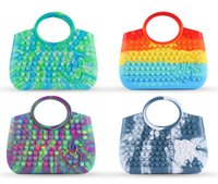 2021 Fidget Toys Bag Cartoon Candy Color Pencil Case Push Bubble Handbag Sensory Squishy Stress Reliever Autism Needs Anti-stress Rainbow Toy For Kids Adult-TOPN915