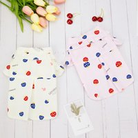 Cute Dog Clothes Shirt Mushroom Print Pet Clothing For Small Dogs Outfits Spring Summer Fashion Chihuahua Trendy Ropa Para Perro Apparel