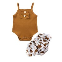 Kids Clothes Children's Clothes Sets Casual Baby Sling Jumpsuits+ Cute Short Skirt Baby Summer Romper Short Skirt 2-piece 3-24 Months Girls Outfits