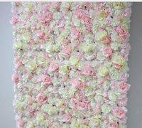 2021 4ft * 8ft erröten rosa hochzeit rose rollen herauf blume wand hintergrund künstliche blume tisch center piece anordnung dekorativ