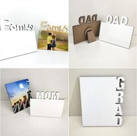 Blank Sublimation Frames Wooden Thermal Transfer Phase Plate MOM DAD Family GRAD Frame Mother Father's Day Festival Personalized Gift