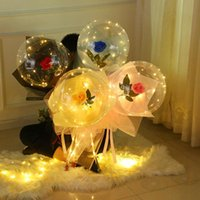 Party Decoration LED Light Balloon Stick Birthday Decorations Kids Clear Balloons Globos Stand Holder Wedding Decor Baloon Supplies