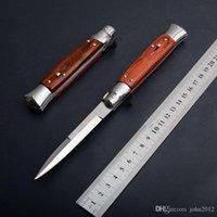 9 Inch Italian mafia Automatic knife AUTO Tactical knife 58HRC Satin Single Blade Alloy Handle EDC Hunting Pocket knives freeshipping