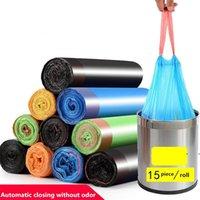 Çöp Çubuk İpli Çöp Çantalar Ev Kalınlaşmak Ağır Tek Kullanımlık Plastik Torba Kapatma Kolları Depolama Yük Yatağı Bin FWF6916