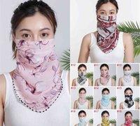 Fashion Ladies Face Mask Summer Imitation Silk Chiffon Handkerchief Outdoor Windproof Dust Shade Scarf