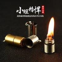 Mini Kerosene Light Capsule Портативный металлический EDC Gear Водонепроницаемый крошечный арахисовой зажигалок для брелок, особенно для выживания и экстренного использования