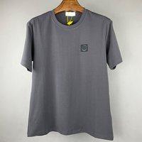 Marca famosa cuello redondo algodón camisetas camisetas de insignia bordada mangas cortas para los amantes del ocio ocio al aire libre verano polo camisa