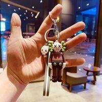 Kaws Doll Designer Keychain Toys Fashion Sesame Street Keys Chain Accessories PVC Action Figures Bag Charms Car Key Rings Holder BX007