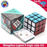 Shengshou 전설 S Magic Cube Black 3x3 Sengso 전설 속도 큐브 전문 퍼즐 회전 부드러운 큐브 Magico Toys