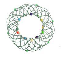 Fidget Mandala Mandala Flower Cesta Juguetes Múltiples Cambios Cambios Anillo de flujo Hecho A Mano Hierro Bucles Alambre Niños Adulto Estrés Relevante Funhwd6306