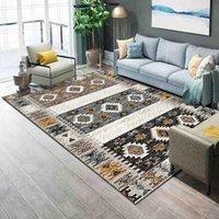Carpets Nordic Geometric For Living Room Bedroom Area Rugs Home Decor Big Rug Bohemia Style 3D Printed Carpet Retro Persian Mats