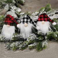 سانتا كلوز زجاجة غطاء مجهولي دمية زجاجة النبيذ الديكور عيد الميلاد الشمال الأرض الله سانتا شنقا زخرفة OWA7494