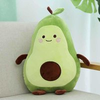 Lovely Holiday Birthday Party Gift Avocado 35/65cm Plush Toy Creative Fruit Long Cushion Throw Pillows Wholesale