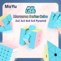 Moyu Meilong Macaron 2x2x2 3x3x3 Cubo de velocidad 4x4x4 5x5x5 Magic Cube 2x2 3x3 4x4 5x5 Puzzle Cubo Magico Pyramid Cubes
