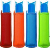 Antifreezing Popsicle Bags Freezer Popsicle Holders Reusable Neoprene Insulation Ice Pop Sleeves Bag for Kids Summer Kitchen Tools HWA5419