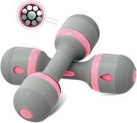 Kadınlar için Ağırlık Ayarlanabilir El-Dambıllar - 1 Takım (2 adet) Ev Spor Egzersiz için Taşınabilir Kauçuk Fitness Ekipmanları