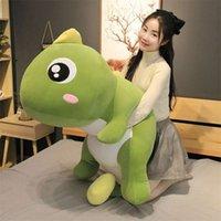 55-140 cm Big Size Lange Mooie Dinosaur Knuffel Soft Cartoon Animal Dinosaur Gevulde Poppenkussen voor Kinderen Meisje Verjaardagscadeau 210929