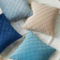 Cover Cushion Xuai Holandés Velvet Modelo Europeo Sala de celosía Bordado Diamond Funda de almohada Moda