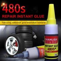 Herramientas de limpieza de automóviles 480S Black Super Glue Caucho Reparación de Neumático Sello Altavoz Sello Mighty