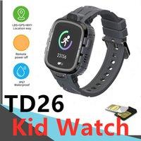 TD26 Ребенок умные часы GPS LBS позиционирование водонепроницаемая камера Возьмите фото циферблат ремешок дети для мальчика девушка SIM-карта 2G SOS Push Message Android PK Y88