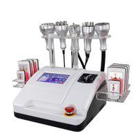 Portable 8 in 1 Ultraschallkavitation Lipolaser Abnehmen Maschinenkörperformung Fettabnahme Gesichtsheben 40k Multipolare RF Vakuum-Laser-Pads Schönheitsgeräte