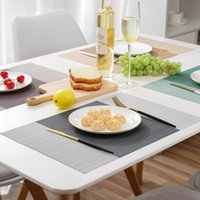 Mats & Pads 4PCS PVC Placemat For Dining Table Heat-insulation Non-slip Mat Kitchen