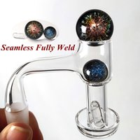 Fully Weld Quartz Banger Smoking Terp Slurper Beveled Edge US Grade Seamless Bangers With Pearls Pill Ball For Glass Bongs Oil Rigs High Quality Dab Vacuum