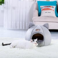Pet Cats Dogs Houses Tent Kennel Winter Warm Nest Soft Foldable Sleeping Mat Quality Cotton Puppy Cat Bed
