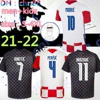 Tamanho S-4XL 2020 2021 Futebol Jersey Hrvatska Modric Mandzukic Rakitic Perisic Kovacic 20 21 Camisas de Futebol Nacionais Homens + Kid Kit Tailândia Qualidade