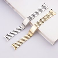 18 20mm Silver Gold Watch strap Bands Solid 316L Stainless Steel with Hollow link Luxury Watchbands Bracelet Clasp Buckle For Geneve OME Omeg