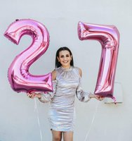 Party Decoration 2pcs lot 32 40 Inch Number 27 28 Aluminum Foil Balloons Rose Gold Silver Digit For Adult 22th Birthday Wedding