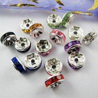 500pcs color misto cristallo rondelle ondulato distanziatore perlina 8mm per gioielli che fa la collana del braccialetto accessori fai da te