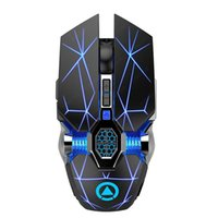 Mice ALLINGE A7 Rechargeable 2.4G Wireless Mouse Mute Computer USB Gaming 7 Colors RGB Light For Laptop Desktop