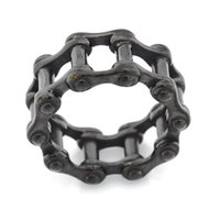 FANSSTEEL STAINLESS STEEL punk vintage mens or womens JEWELRY MOTOR CYCLE CHAIN RING BIKER RING GIFT FOR BROTHERS SISTERS 12W78B