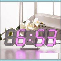 Déce GardenModern Design 3d LED moderno despertador digital home sala de visitas mesa mesa mesa noite relógio de parede exibição entrega 202