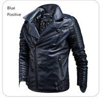 Veste en cuir pour hommes Faux Manteaux Fashion Streetwear Automne et hiver Mens vestes PU Racing Moto Costive Couverture de vêtements de l'extérieur Taille américaine S-3XL