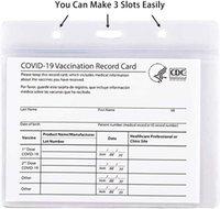 CDC вакцинация карт защитника иммунизации рекорд вакцина карт крышки держатель прозрачный мягкий виниловый пластиковый рукав с тарелкой, водонепроницаемый тип